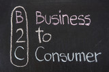 B2C acronym Business to Consumer poster