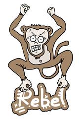 Rebel monkey jump