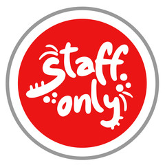 Staff only icon