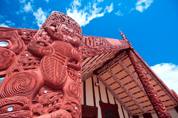 Maori marae (meeting house and meeting ground)
