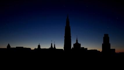 Belgium Antwerpen cityscape sunrise
