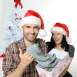 Freude übers Weihnachtsgeschenk