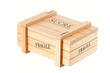 wooden box for sugar - fragile