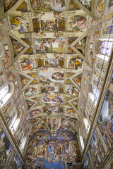 Interior of Vatican Museums, Rome