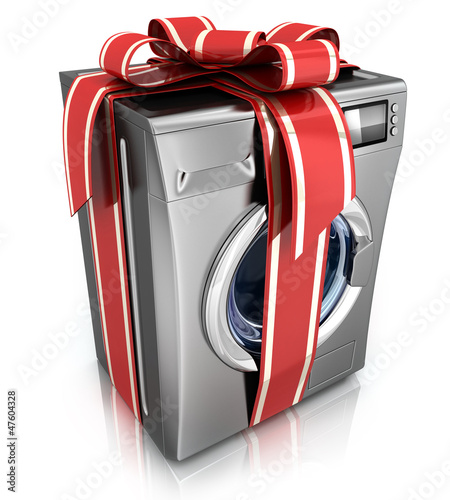 washer with ribbon