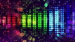 colorful sound level meter equalizer loop