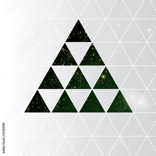 Merry Christmas card / Abstract square background