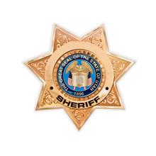 Etoile de shérif américain, fond blanc