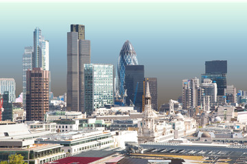 Skyline of London.