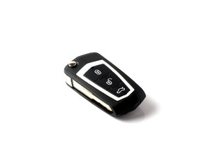key of car on a white background