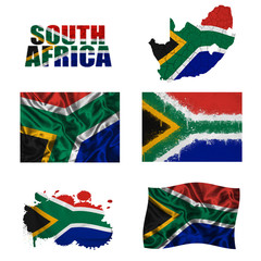South Africa flag collage