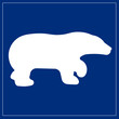 Schild blau - Bär