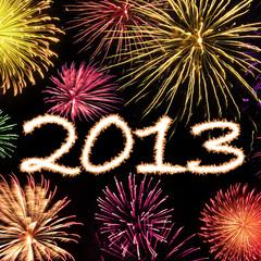 Fireworks 2013 New Year Background