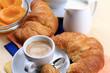 Caffè espresso e prima colazione