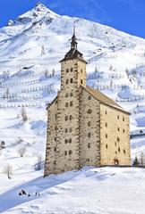 The old Simplon Hospice, Simplon Pass