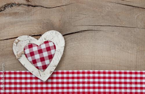 Bayerisches Herz als Holzhintergrund