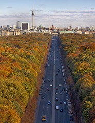 Berlin in Autumn, shot from Siegessaule