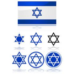 Flag of Israel and star of David