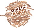 Постер, плакат: Word cloud for Athletic trainer