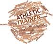 Постер, плакат: Word cloud for Athletic trainer