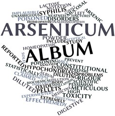 Word cloud for Arsenicum album