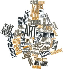 Word cloud for Art