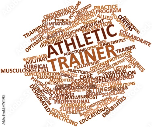 Word cloud for Athletic trainer