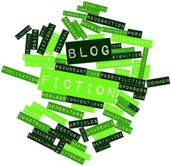 Word cloud for Blog fiction