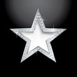 silver star on black