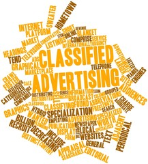 Word cloud for Classified advertising