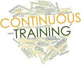 Word cloud for Continuous training