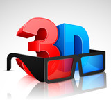 3D word with Glasses
