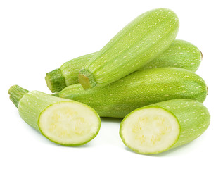 Fresh vegetable marrow isolated on white