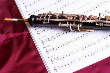 Oboe auf Noten
