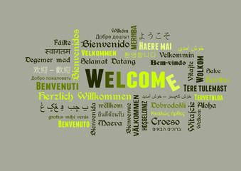 welcome wordcloud herzlich willkommen