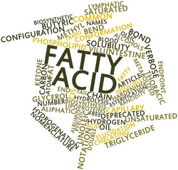 Word cloud for Fatty acid