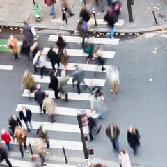 Menschenmassen in der Stadt