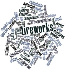 Word cloud for Fireworks