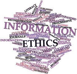 Word cloud for Information ethics
