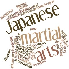 Word cloud for Japanese martial arts