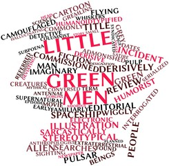 Word cloud for Little green men