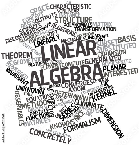 Word cloud for Linear algebra