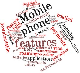 Word cloud for Mobile phone features