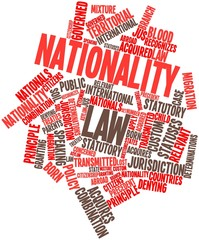 Word cloud for Nationality law