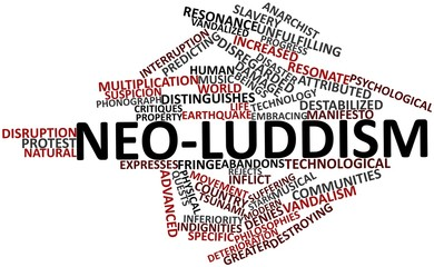 Word cloud for Neo-Luddism