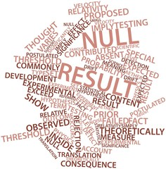 Word cloud for Null result