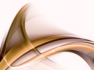 Abstract gold fractal waves