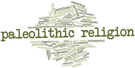 Word cloud for Paleolithic religion