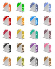 An illustration of different file formats