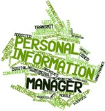 Word cloud for Personal information manager
